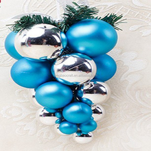Plain Plastic Xmas Ball Cluster lantern christmas ornaments manufactured in China