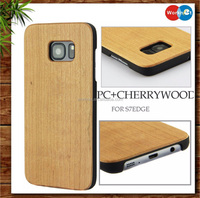 lower price china manufacturer PC wooden mobile phone case for Samsung Galaxy S7 Edge