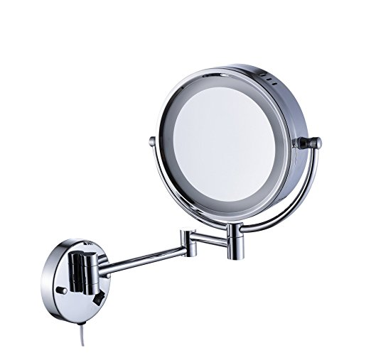 Makeup Cosmetic Folding Wall Mount Led Magnifying Bathroom Mirror