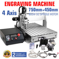 4 AXIS CNC ROUTER ENGRAVER ENGRAVING MACHINE DRILLING MILLING 6040Z CUTTER TOOL