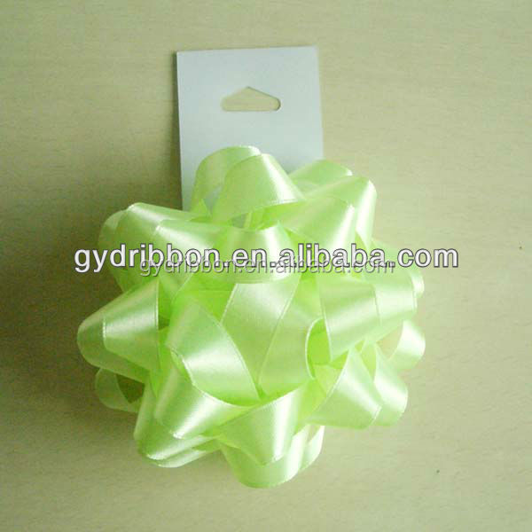 Star ribbon Bow for christmas decoration/Satin Ribbon Bow for underware ornament