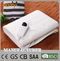 220V CE CB GS RoHS Cheapest Polyester Electric Blanket