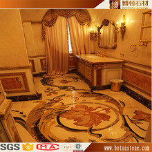 hotel interior flooring Colorful design marble floor medallion