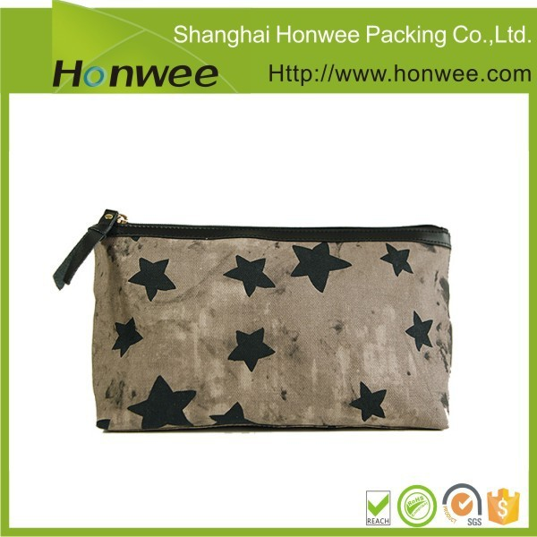 custom design high quality fashion beauty jute bag with zipper