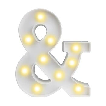 Ampersand Symbol Marquee Letter Lights Alphabet Light Up Sign for Wedding Home Party Bar Decoration &