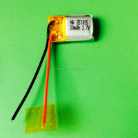 Hot sale Mini small micro battery 351015 Lipo Battery 3.7V 30mAh rechargeable lithium polymer battery