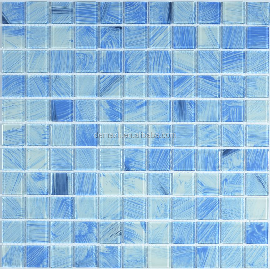 High class bathroom glass colored beveled glass mirror mosaic tile for swimming pool
