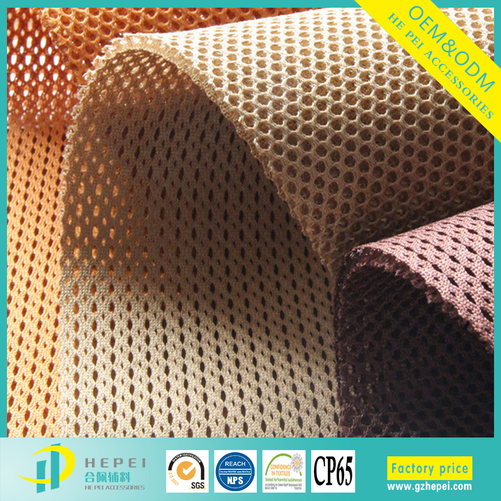 Heavy duty thin waterproof polyester sandwich mesh fabric