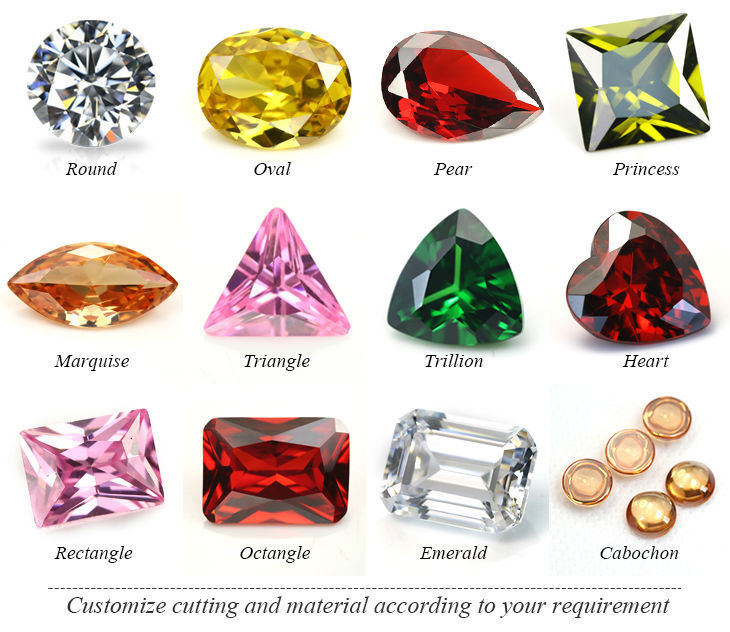 All colors rough material uncut cubic zirconia