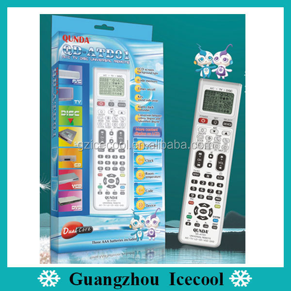 Full Function 3 in 1 Universal Remote Control QD-ATD01 for AC,TV,DVD