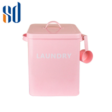 Factory Metal Laundry Powder Tin/Caddy/Storage Box for Washing