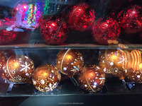 Christmas Light 10L Dia 6CM Gold/Silver/Red/Copper Plastic Ball Light Chain Battery Box
