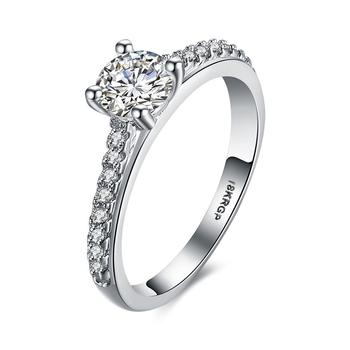 Latest wedding ring designs and hot sale Platinum Plated diamond zircon ring fashion cz engagement wedding ring wholesale