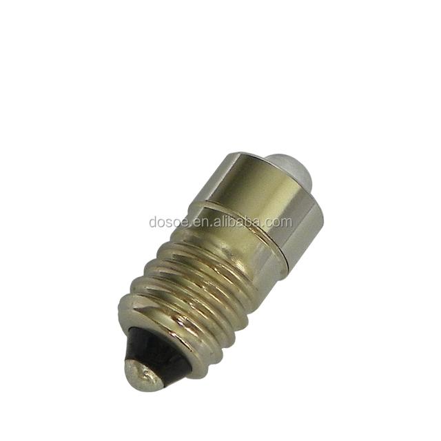 3 Watt,E10, mini led light replacement bulb for 2-cell C or D (1.5V, 3V) maglite Flashlights