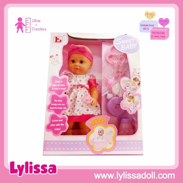Eco-friendly Hot Selling 16 Inch Vinyl Baby Doll Beautiful Girl with Accessories Toys