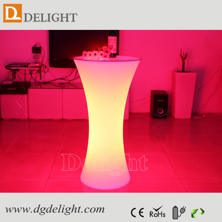 Alibaba Best Sell Products Stand Up LED Illuminated Spandex Cocktail Bar Table