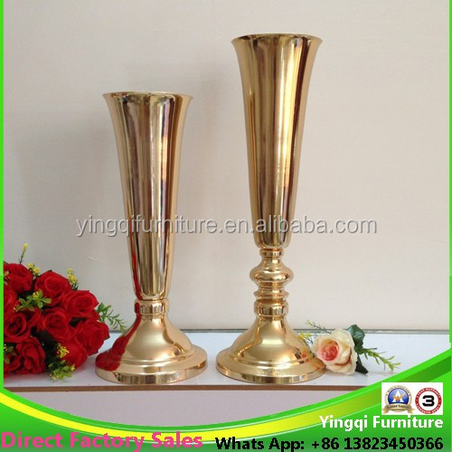 French Style Floor Decorative Metal Flower Vases for Wedding