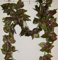 Artificial purple leaves garland NK69