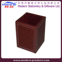 Classy Exclusive Multi Purpose Cube Pu Leather Table Pen Holder