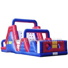 Customized newest cheap inflatable obstacle course for kids play A5038