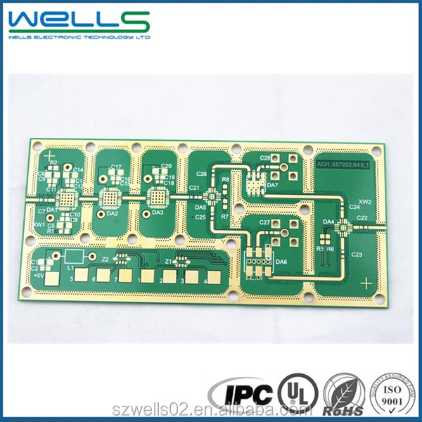 Rogers material gold plating pcb electronic circuit board high frequency rogers 4003c pcb