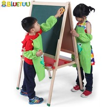 New Zealand pine wood free standing adjustable easel with whiteboard