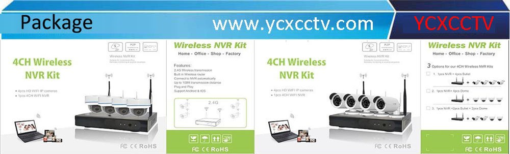 2016 Newest 100m WIFI Kit 4CH 720P Wireless IP Kit manufacturer with 2 years warranty