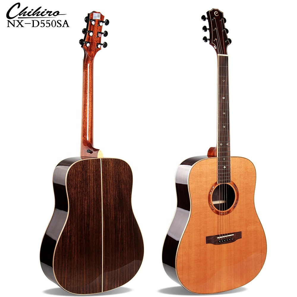Best Quality Top Solid Cedar Handmade Vintage Martin Style Bass Acoustic Guitar 41 Inch China Wholesale