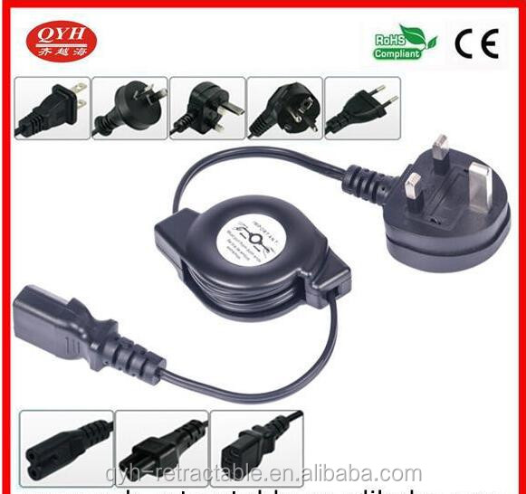 ROHS long lasting small AC double retractable power cable reels for electronics at favorable price