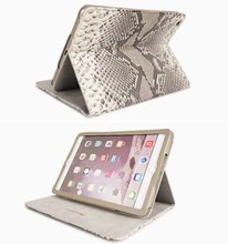 Luxury fashion snake leather tablet case flip case PC tablet case for iPad/Mini