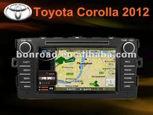 car dvd bluetooth gps navigation with 3 g for toyota corolla 2012