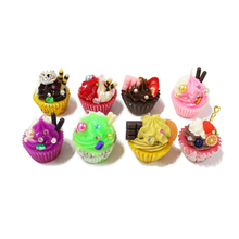 wholesale plastic diy food toy miniature fake cup cake
