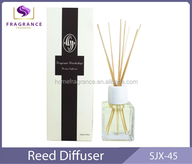 square glass bottle reed diffuser home air fresheners
