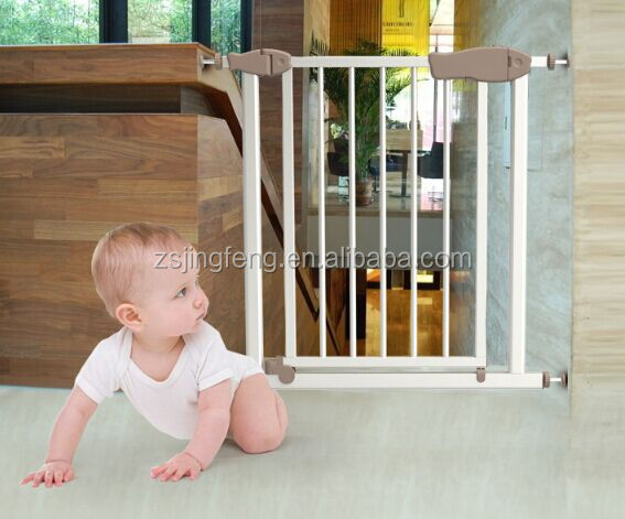 High Quality Double Lock Auto Close Metal Baby Safety Gate For Door And Stair