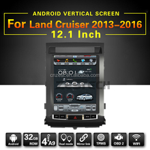 12.1inch vertical screen car radio for Toyota Land cruiser 2008-2014 android multimedia system with WiFi BT 3G auto gps player