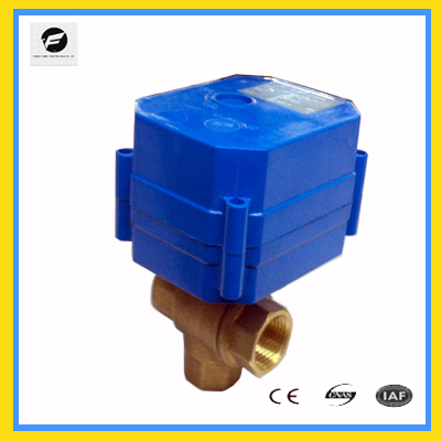 CWX-60P electric ball valve motorized ball valve 3way for IC card water meters,heat energy meters and reuse of rainwater