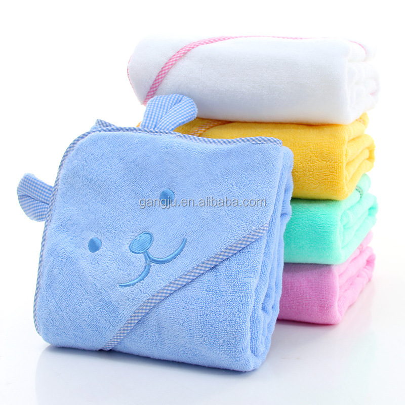 OEM service 100% Cotton baby hooded towel blanket bath towel 90*90cm