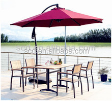 Aluminum Sunbrella fabric outdoor umbrella