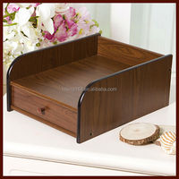 Durable and drawer office table office wooden file rack,wooden pencil box # HX-5022