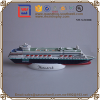 Home Decoration Resin Ship Resin 3D Cruise Ships Model Resin Figurine