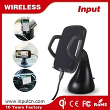 Factory Supplier 3 locations cell phone holder car charger with socket zens qi wireless car charger