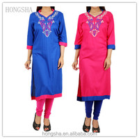 Fancy Long Kurta Embroidery Designs for Indian Women HSD2289