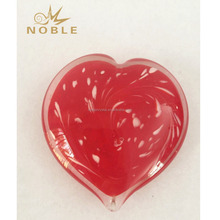 Red Color Glass Heart Valentine Day Gifts