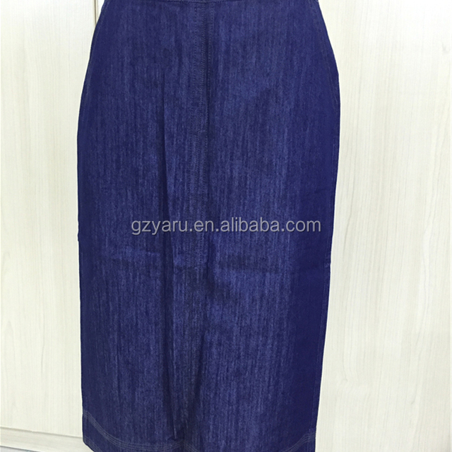 Wholesale Brand Fashion Women's Skirt with Pockets Blue Jeans Back Zipper Denim Midi Pencil Skirt XXXL in Stocks