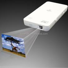 Wifi Wireless Mini Pocket Multimedia DLP Projector with 2500 mah rechargeable battery Power Bank For Galaxy S4 S5
