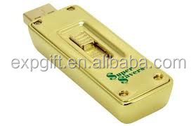 Gold Bar USB flash drive / Gold Metal USB Flash Drive / Gold Nugget USB Flash Drive