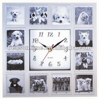 Caspm Square Shape Photo Frame Wall Clock