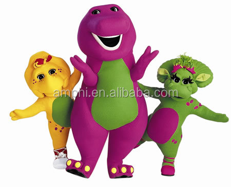 supplier top selling barney mascot costume funny kids and audlts festival gift fur costume
