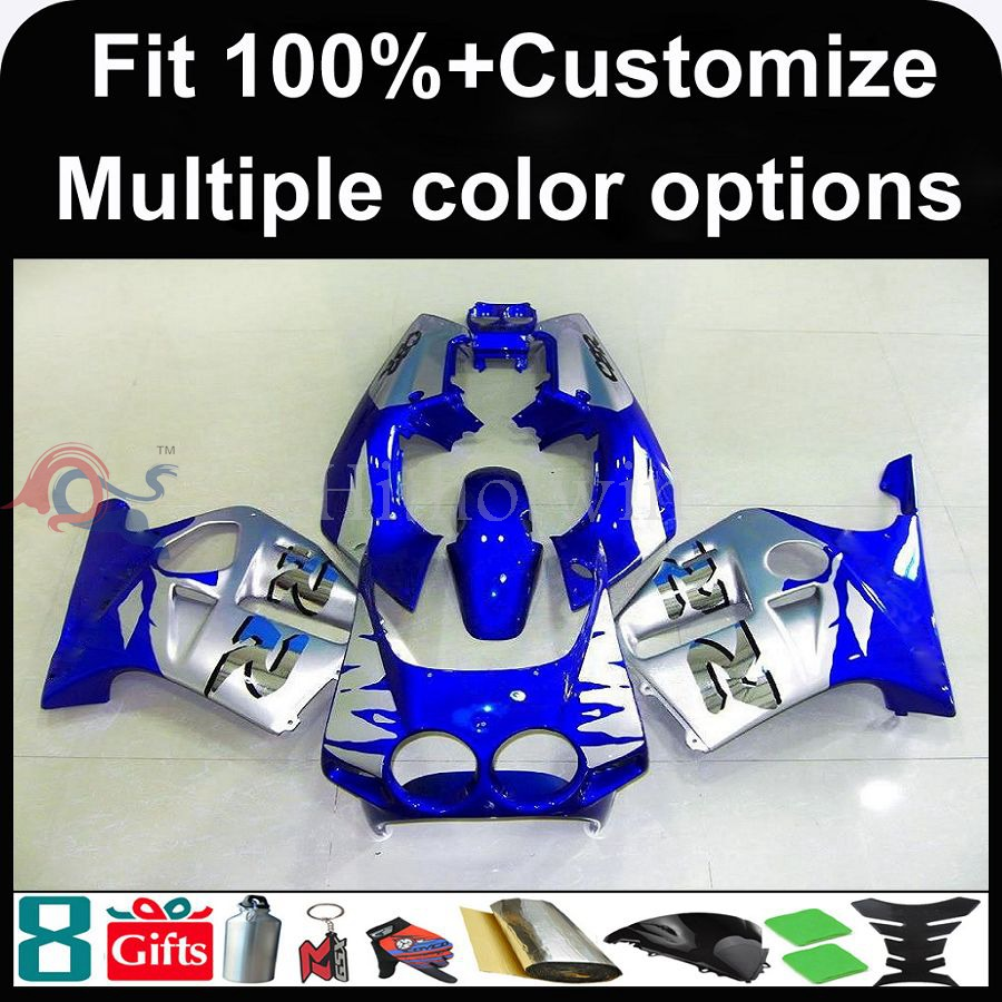 Manufacturer INJECTION MOLDING Fairinged silver cover blue for Honda 98-99 CBR250RR MC19 1988 1989 motorcycle Fairing