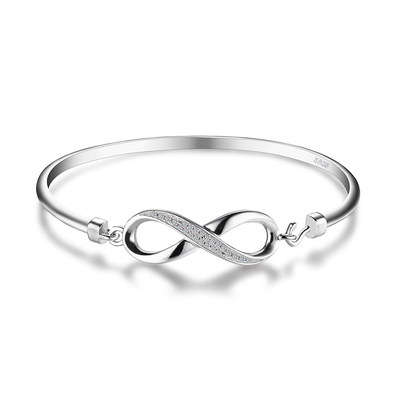 JewelryPalace Forever Love Infinity Anniversary Bangle Bracelet Pure 925 Sterling Silver Bracelet <strong>Jewelry</strong> Wedding <strong>Jewelry</strong>
